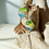Thumbnail: Fused Glass Leaf Silver Earrings | Rainbow Sprinkles | Urban F