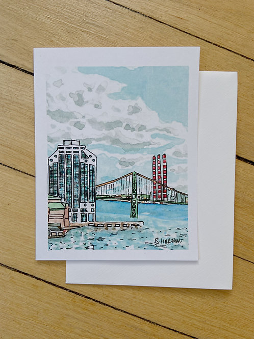 Halifax Purdy's Wharf Card | BardBardBard