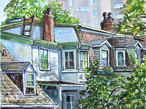 Roofs, Chimneys and Gables - Original Painting | Pat Shattuck