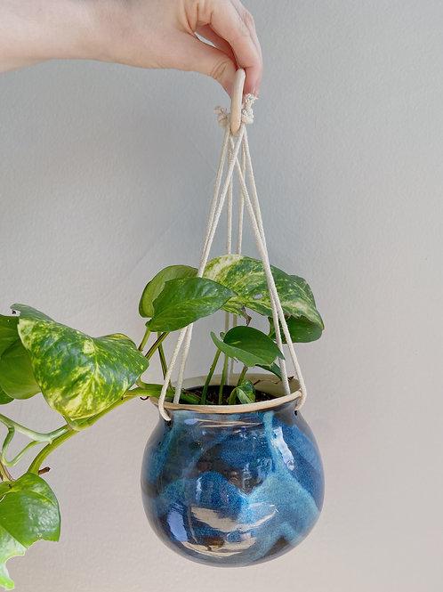 Denim Hanging Planter | Anderson Pottery