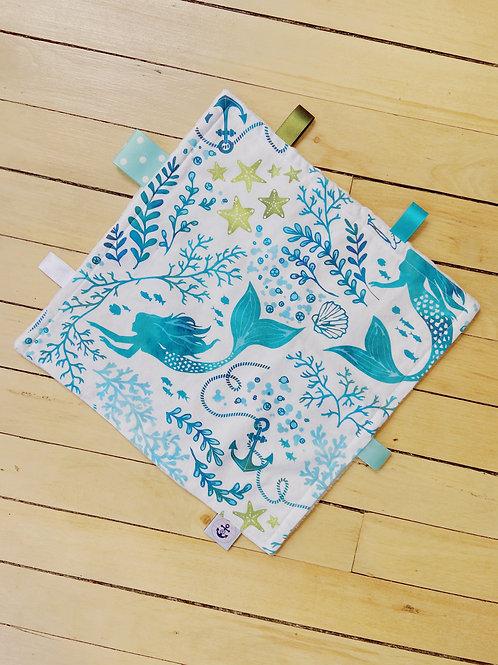 Baby Sensory Ribbon Mini Blanket | Mermaid | RoseBay Quilts