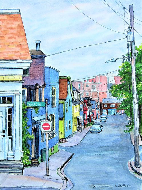 The Other Side of Falkland Street - Original Painting | Pat Shattuck