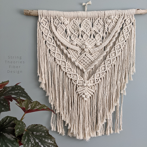 Cream Detailed Macrame Wall Hanging | String Theories Fiber Design