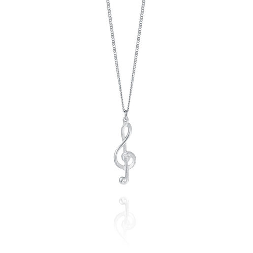 Treble Clef Necklace | Amos Pewter