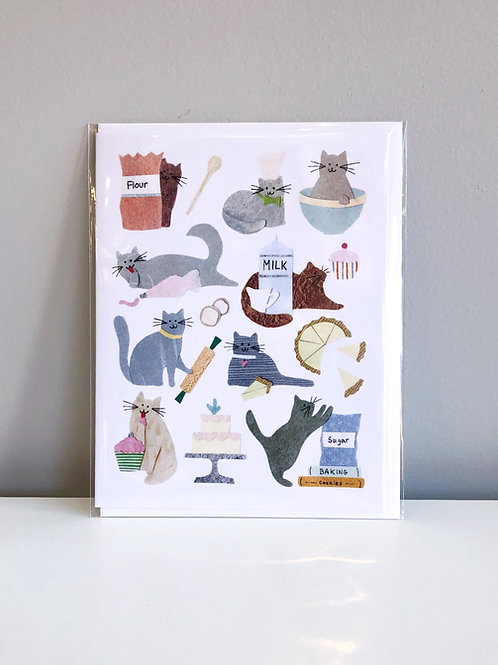 Baker Cats Card | Cards by Kate