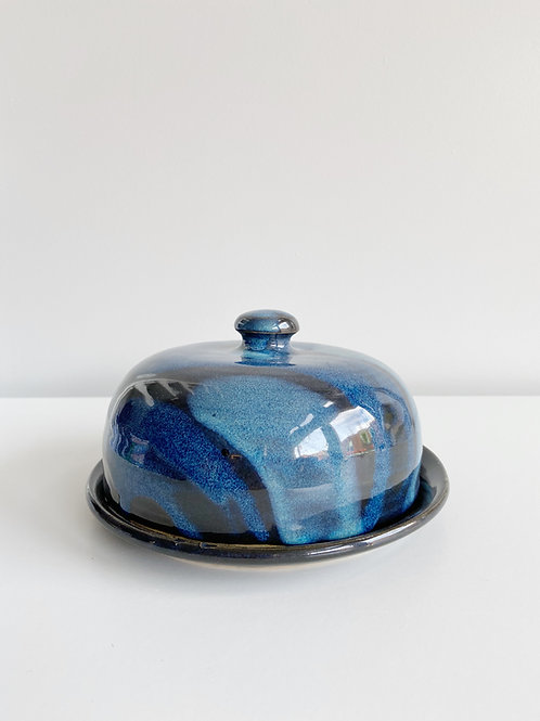 Denim Butter Dish | Anderson Pottery