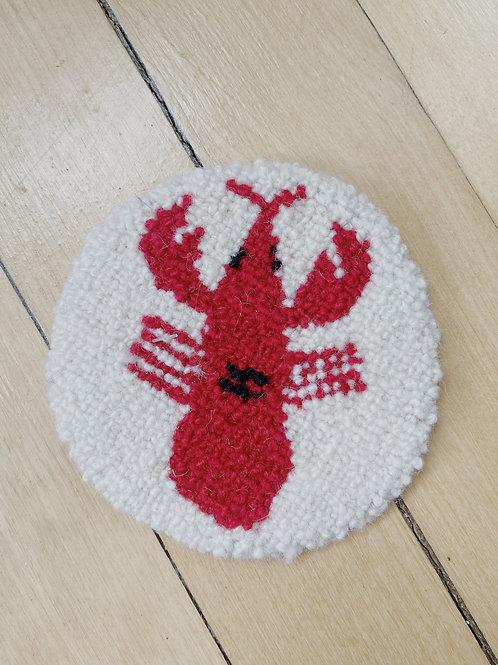 Lobster Coaster | Cheticamp Rug Hooking