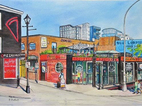 Pizza Corner 2- Original Painting | Pat Shattuck