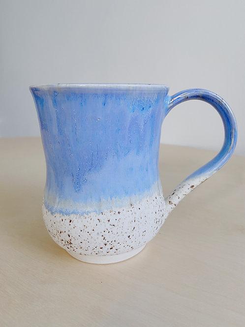 Blue + Oatmeal Mug | Kym's Pottery Studio