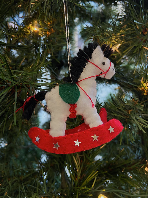 Rocking Horse Felt Ornament | Rosemary Taylor