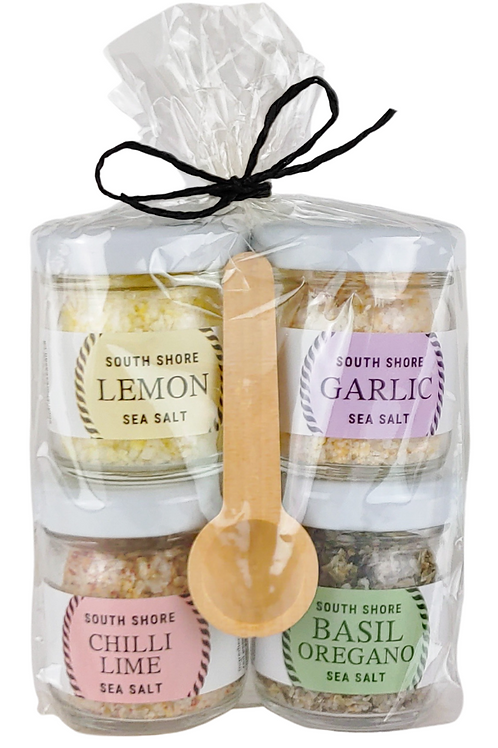 The Salty Chef Four Pack | South Shore Sea Salt