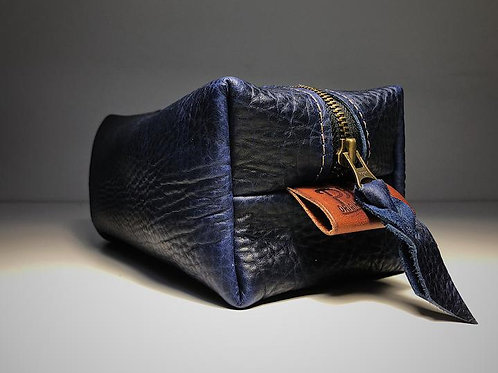 Washabuck Navy Leather Bag | Phee's Original Goods