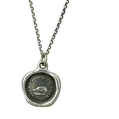 Defence - Hedgehog Silver Pendant | Plum + Posey