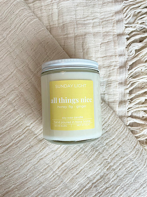 All Things Nice | honey fig + ginger | Sunday Light Candle Co.
