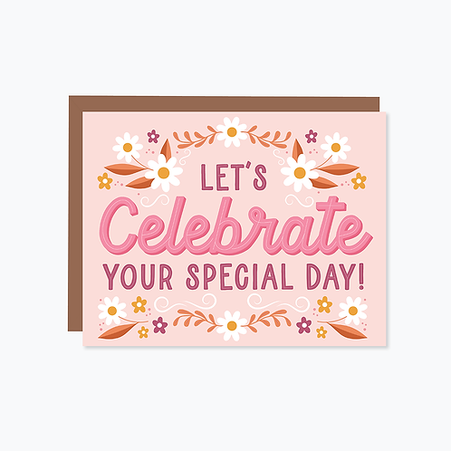 Let's Celebrate Your Special Day Card   Halifax Paper Hearts