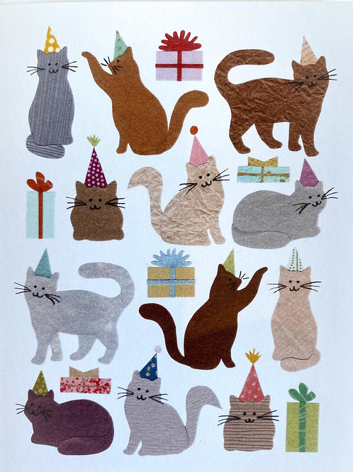 Party Cats Card | Cards by Kate
