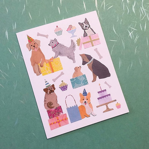 Party Dogs Card | Cards by Kate
