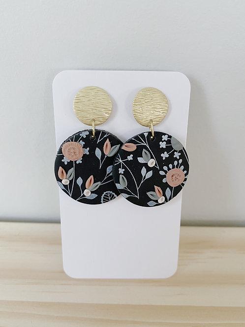 Brynlee Black FloralEarrings   Something Handmade