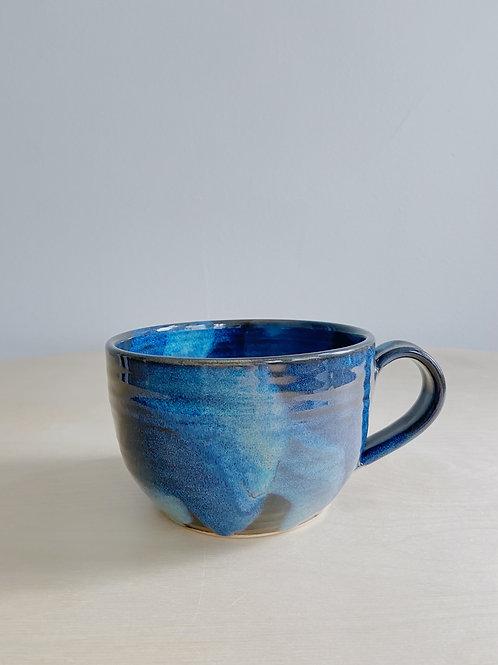 Denim Latte Mug   Anderson Pottery