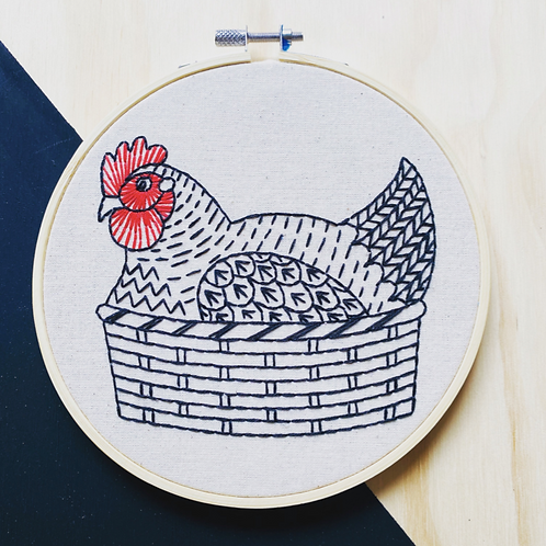 Henny Penny Complete Embroidery Kit | Hook, Line + Tinker
