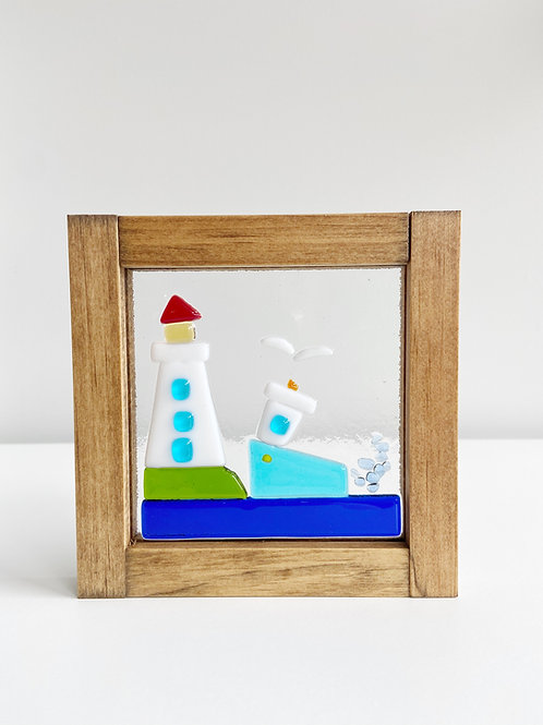 "Small Framed ""By the Seaside"" Scene 