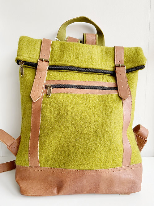 The Essential Backpack- Chartreuse | Fibres of Life