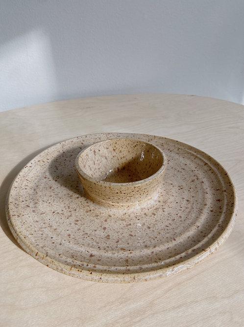 Wheat Large Dip Dish   Postma Pottery