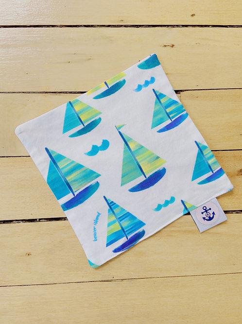 Baby Sensory Paper | Blue Sailboats | RoseBay Quilts