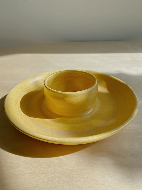 Yellow Chip +  Dip | Anderson Pottery