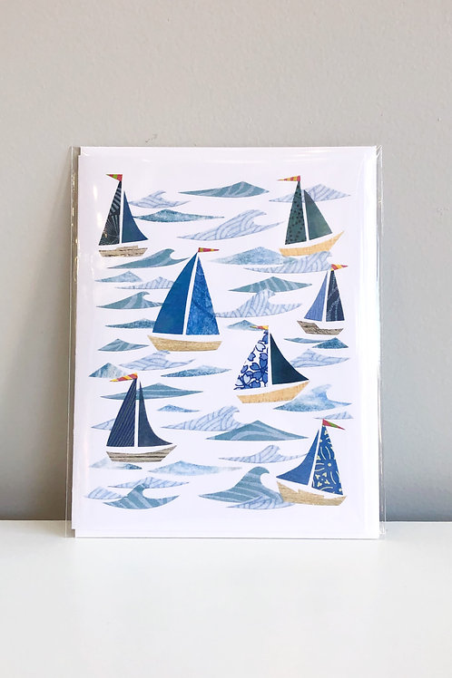 Blue Sails Card | Cards by Kate