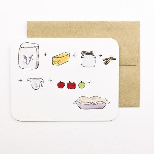 Apple Pie Card | Field Day Paper