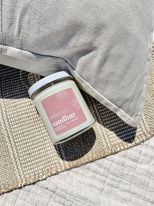 Sandbar | bergamot + mint + sea salt + sandalwood | Sunday Light Candle Co.