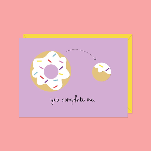 You Complete Me Card | Halifax Paper Hearts