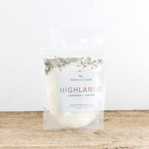 Highlands Botanical Bath Salt Soak | 5.5oz | Wildwood Creek