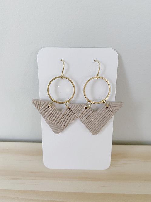 Taupe Arrow Earrings | Something Handmade