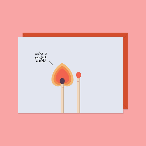 Perfect Match Card | Halifax Paper Hearts