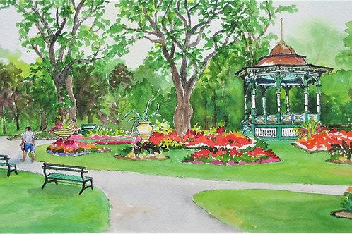A Halifax Gem , Public Gardens - Original Painting | Pat Shattuck