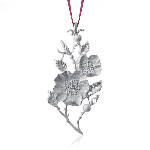 Wild Rose 2020 Collector Ornament | Amos Pewter