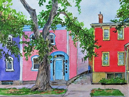 Colours on North Park Street - Original Painting | Pat Shattuck