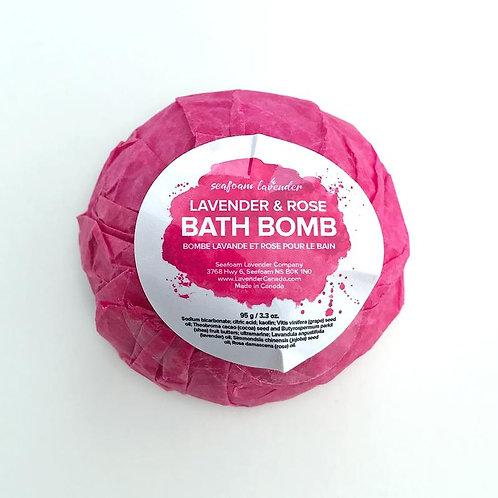 Lavender + Rose Bath Bomb | Seafoam Lavender Co.