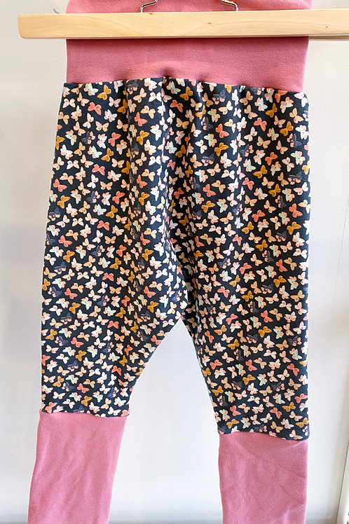 Grow-With-Me Pants | Butterflies + Pink | Saelvage