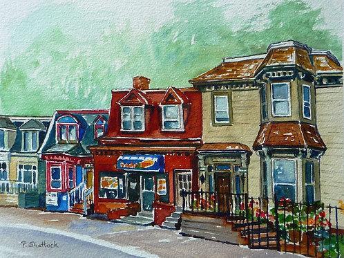 South Barrington Before- Original Painting | Pat Shattuck