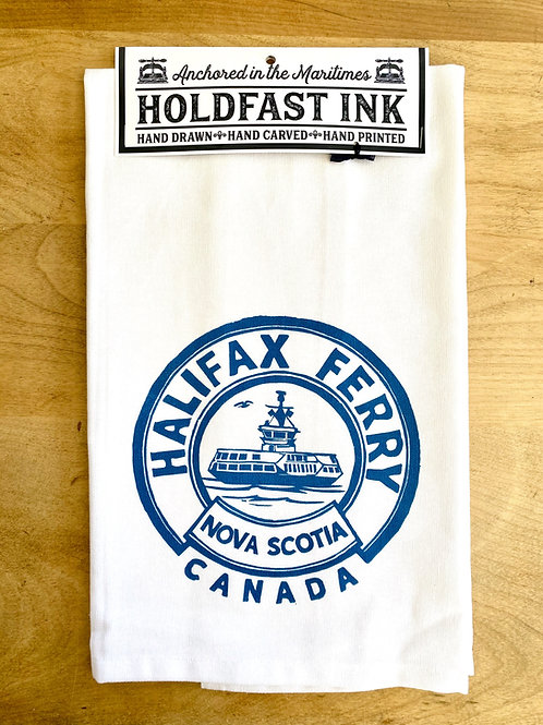 Halifax Ferry Tea Towel | Holdfast Ink