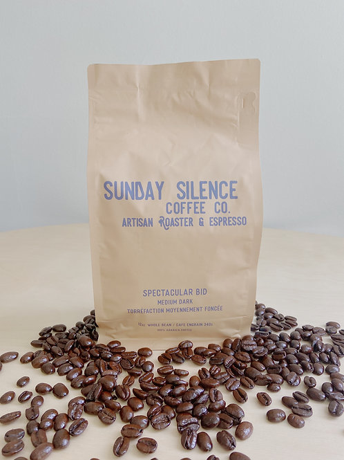 Spectacular Bid Medium Dark Roast Coffee | Sunday Silence Coffee Co.