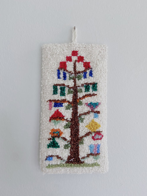 Tree of Life Hanging   Cheticamp Rug Hooking