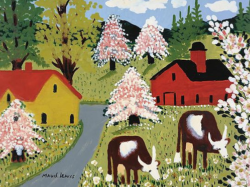 Cows Grazing Print | Maud Lewis | Art Gallery of NS