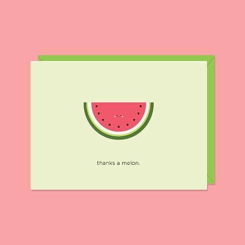 Thanks a Melon Card | Halifax Paper Hearts