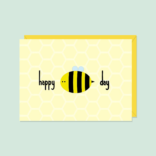 Happy Bee-Day Card| Halifax Paper Hearts
