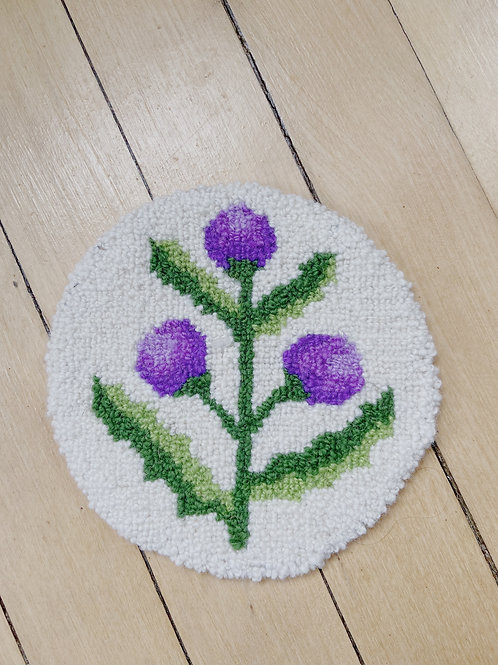 Thistle Round Mat | Cheticamp Rug Hooking