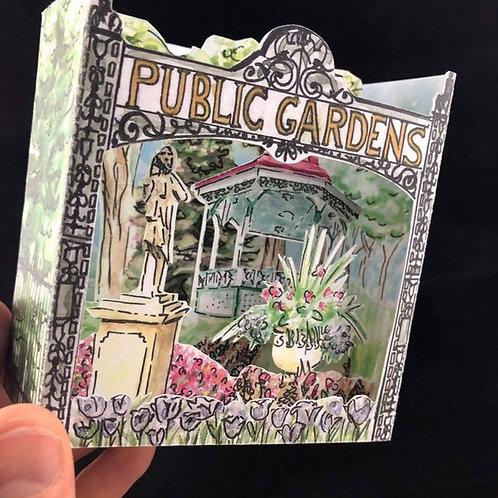 Public Gardens Pop-Up Card | BardBardBard